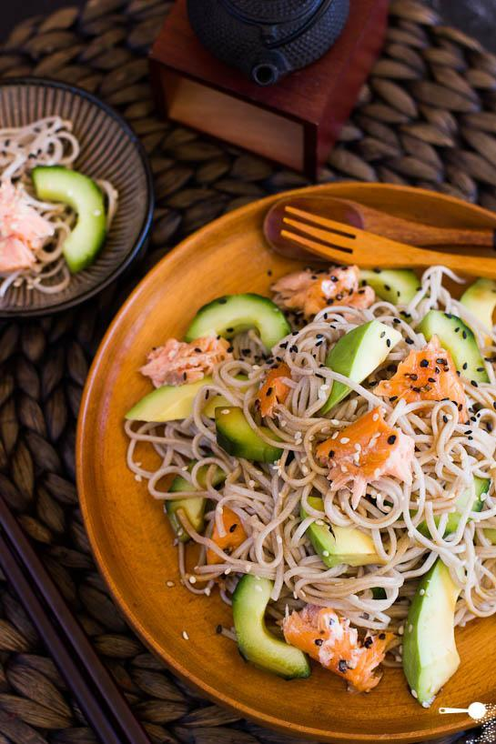 """<div class=""""caption-credit""""> Photo by: Wholesome Cook</div><div class=""""caption-title"""">Smoked Salmon and Soba Noodle Salad</div>Cook this dinner with naturally gluten-free <a rel=""""nofollow noopener"""" href=""""http://www.edenfoods.com/store/product_info.php?products_id=108300"""" target=""""_blank"""" data-ylk=""""slk:100 percent buckwheat soba noodles"""" class=""""link rapid-noclick-resp"""">100 percent buckwheat soba noodles</a> (despite its confusing name, buckwheat is actually a fruit seed) and <a rel=""""nofollow noopener"""" href=""""http://www.kikkomanusa.com/homecooks/products/products_hc_details.php?pf=10106&fam=101"""" target=""""_blank"""" data-ylk=""""slk:gluten-free soy sauce"""" class=""""link rapid-noclick-resp"""">gluten-free soy sauce</a> in less than 10 minutes. <br> <br> <b>Recipe: <a rel=""""nofollow noopener"""" href=""""http://wholesome-cook.com/2012/08/30/smoked-salmon-and-soba-noodle-salad/"""" target=""""_blank"""" data-ylk=""""slk:Smoked Salmon and Soba Noodle Salad"""" class=""""link rapid-noclick-resp"""">Smoked Salmon and Soba Noodle Salad</a></b> <br>"""