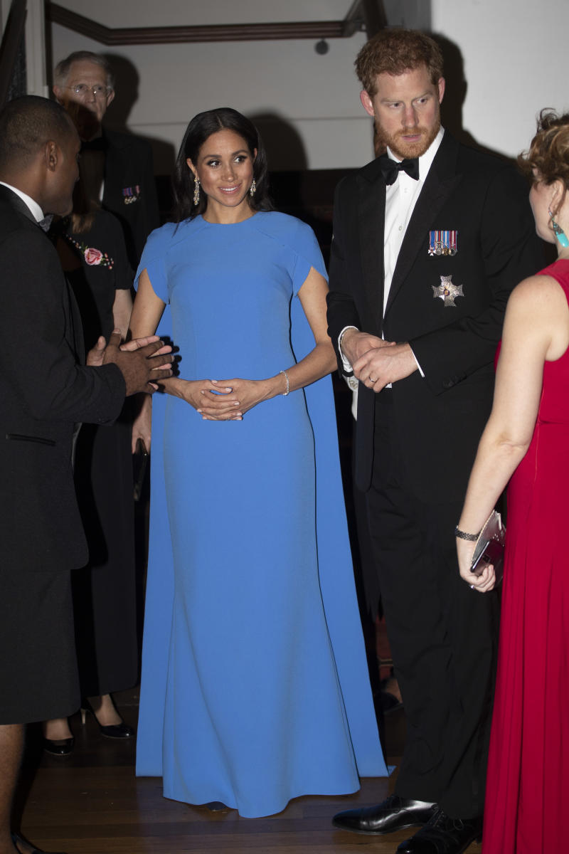 Meghan Markle during a state dinner in Fiji in 2018 [Photo: Getty]