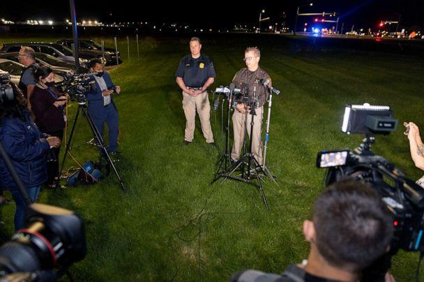 PHOTO: LLt. Kevin Pawlak of the Brown County Sheriff's Office talks to the media about a shooting incident with multiple fatalities at the Oneida Casino near Green Bay, Wis., on May 1, 2021. (Mike Roemer/AP)