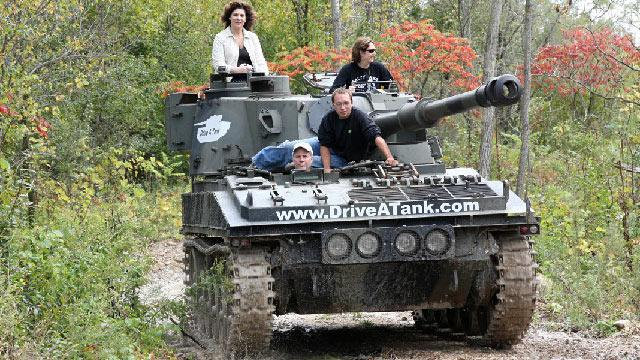 Drive a Tank, Crush a Car, at Minn. Firm