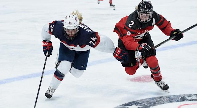 Team USA is the team to beat in the women's tournament because of how good they are at hockey and how bad Canada is morally. (Photo by Hannah Foslien/Getty Images)