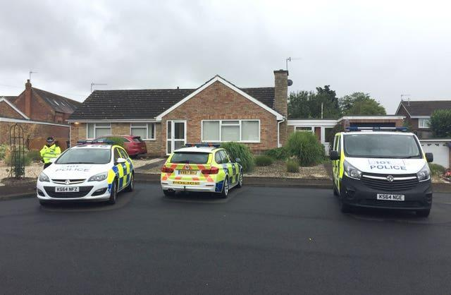 Officers searched a bungalow in Kempsey shortly after the discovery of the remains