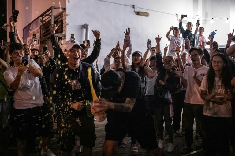 Crisis-hit Hong Kong's pro-democracy camp has scored a stunning victory in district council elections (AFP Photo/Philip FONG)