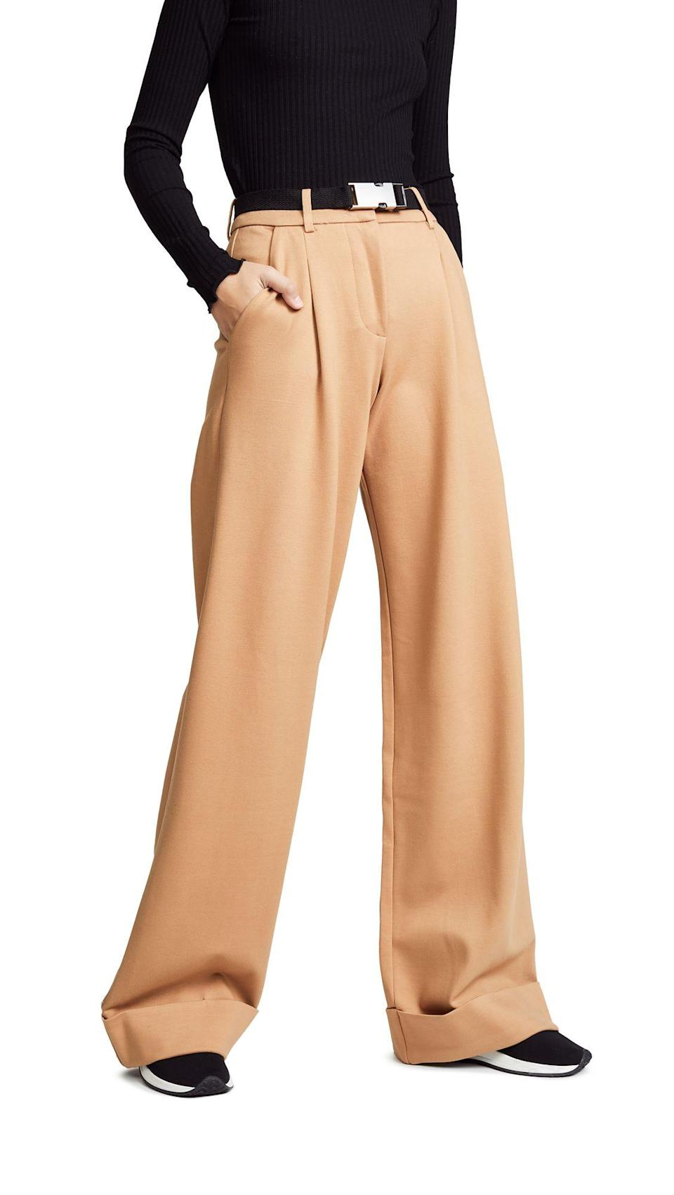 Then, add your tan trousers to the mix.