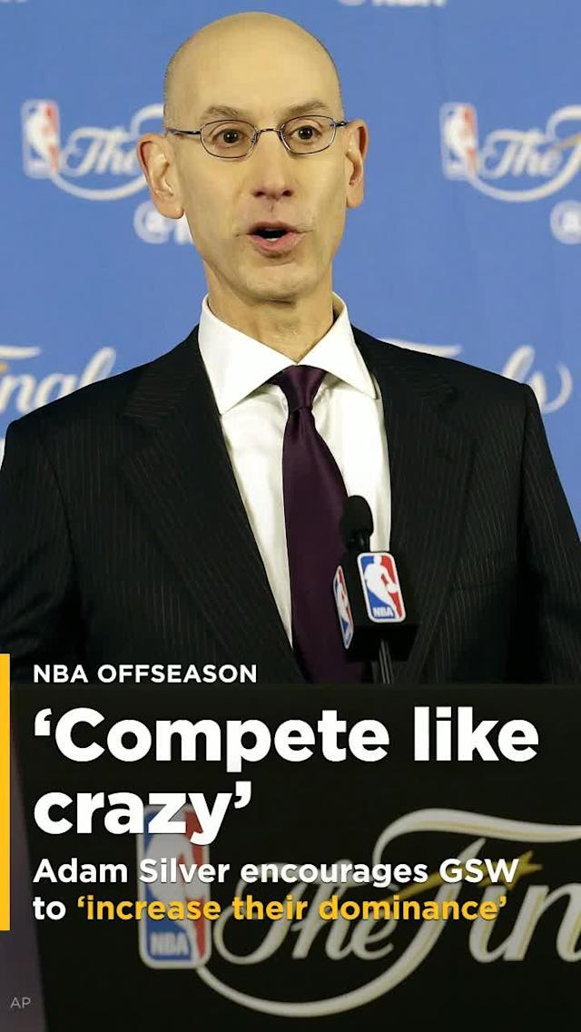NBA Commissioner Adam Silver says that the Golden State Warriors and their front office practices when it comes to getting stars to take less than what they are worth are in line with the league's goals.