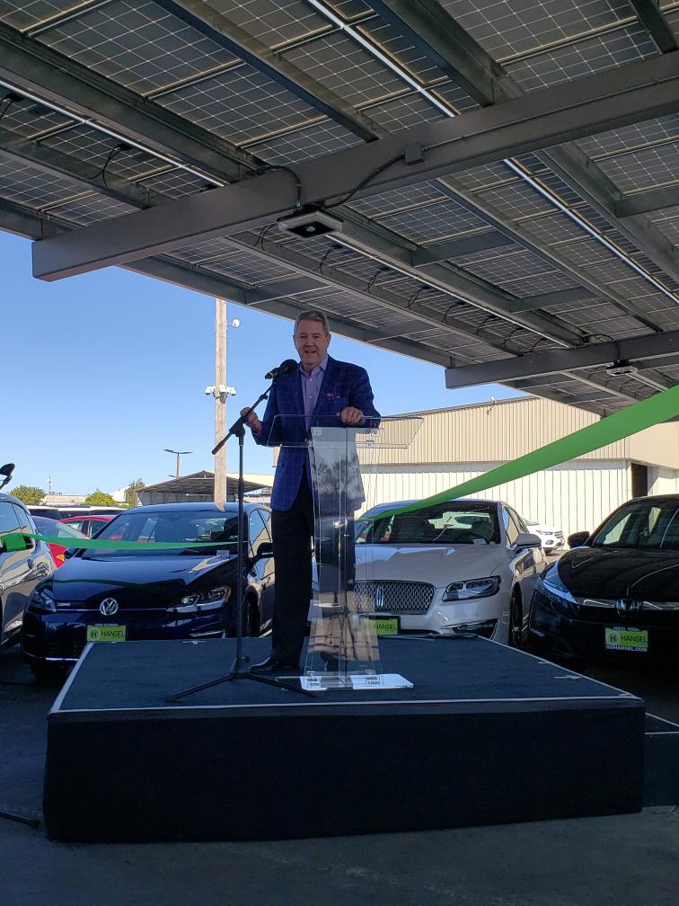 Hansel Auto Group, MBL Energy and NantEnergy Unveil California's First Solar + Energy Storage Installations at Car Dealerships