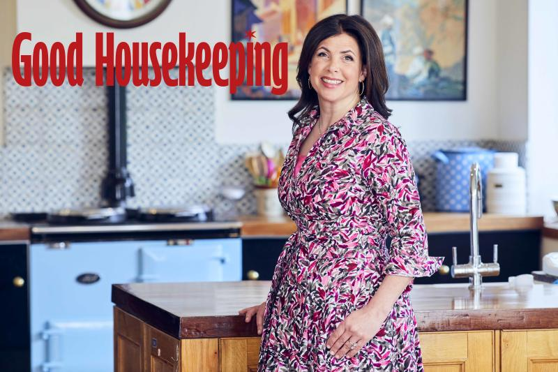 Kirstie Allsopp appears on the cover of the July issue of Good Housekeeping. (David Venni/Good Housekeeping)