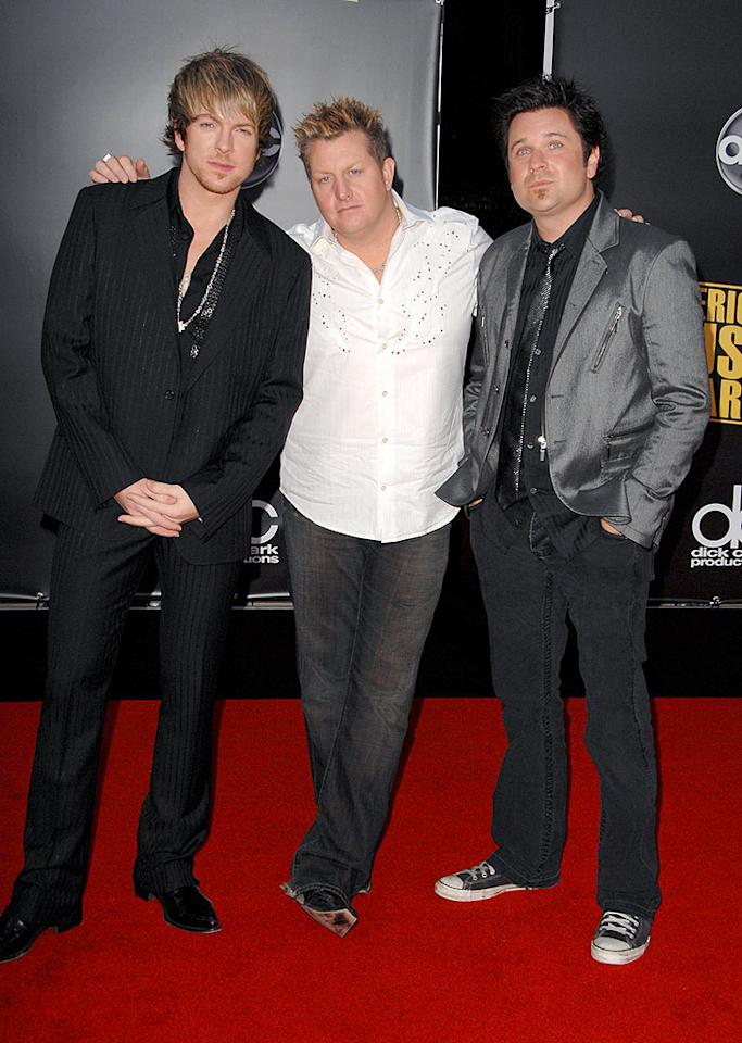 "The boys of Rascal Flatts kept things country casual, though they definitely put a lot of effort -- and product -- into their hair! Steve Granitz/<a href=""http://www.wireimage.com"" target=""new"">WireImage.com</a> - November 23, 2008"