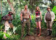 <p>This recently renamed 'Jumanji' sequel/reboot reunites Johnson with his 'Central Intelligence' co-star Kevin Hart, whilst Jack Black and Karen Gillan fill out the ensemble as the avatars of four teens playing the mysterious jungle-based game, this time around on a vintage console. Sure to be fun for all the family, it's out 29 December. (Picture credit: Sony) </p>