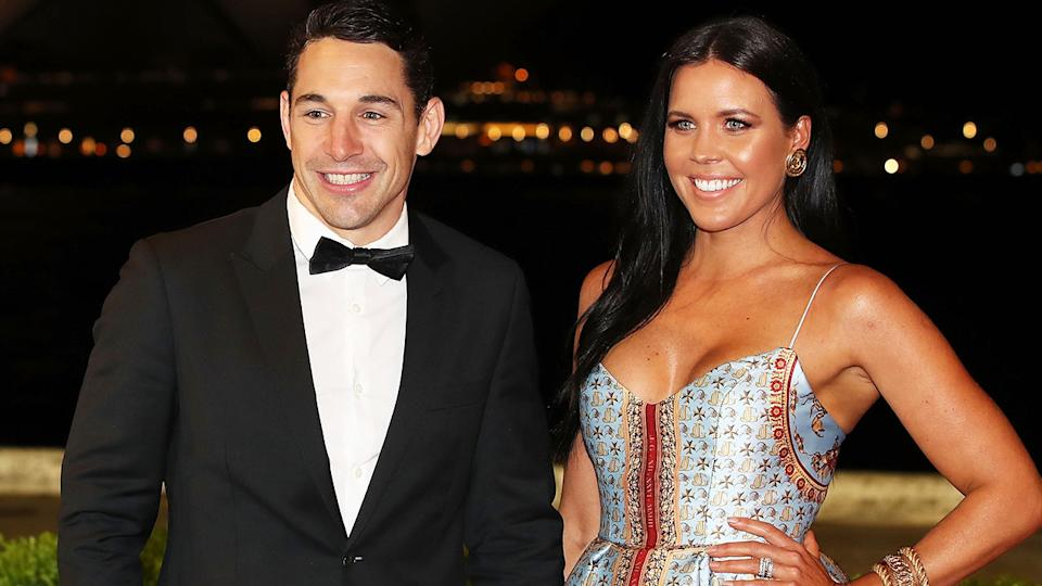 Billy Slater and wife Nicole, pictured here at the 2018 Dally M Awards.
