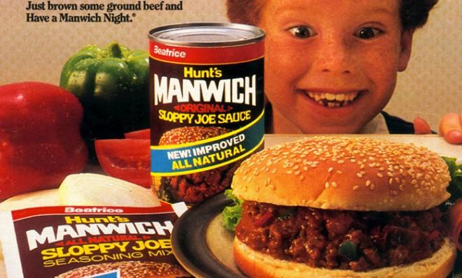 "Hunt's ""Manwich"" has been using wordplay since the late 60s to man-up its sloppy joe mix."