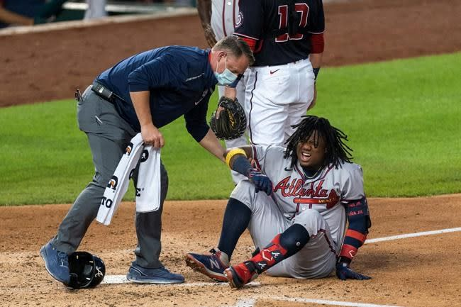 Acuña leaves game after fouling ball off foot; no fracture