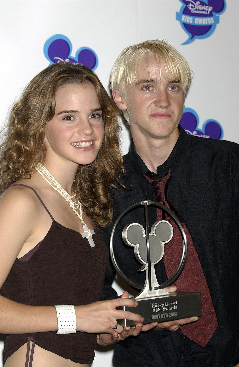 Disney Channel Kids Awards 2003 At The Royal Albert Hall, London, Britain - 20 Sep 2003, Emma Watson And Tom Felton (Photo by Brian Rasic/Getty Images)