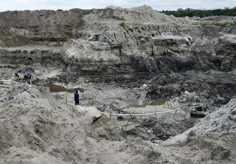 Mining for tin on the Indonesian islands of Bangka and Belitung: mine owners say they restore degraded land but environmentalists are sceptical (AFP Photo/GOH Chai Hin)