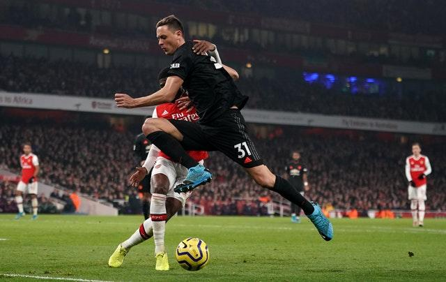 Nemanja Matic was at the heart of the Manchester United midfield away to Arsenal