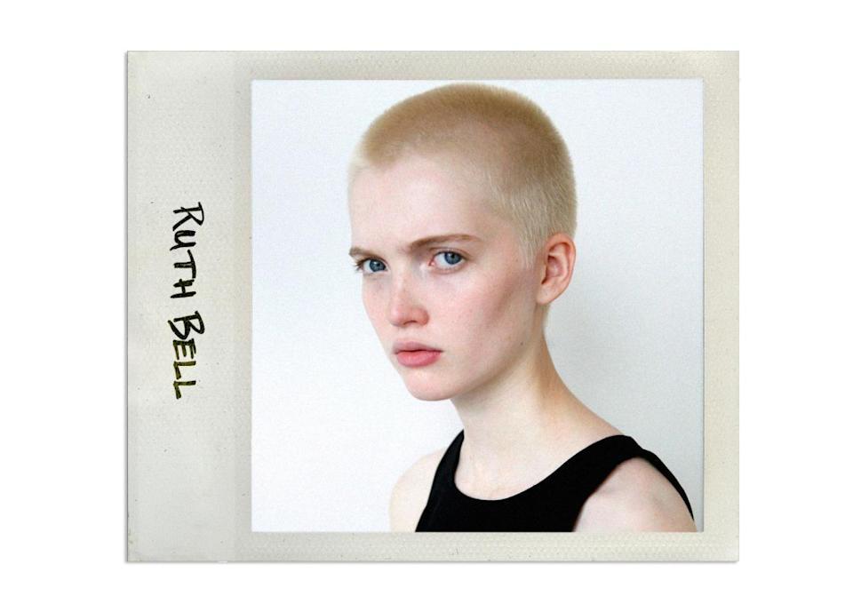 """<p>Ruth and her twin model sister May are a big hit in England where they have been modeling as a set for years for the likes of Topshop and Reevon. It was only recently that they broke out on their own. Ruth even shaved her head and started immediately booking jobs for indie fashion magazines like <i>Dazed & Confused.</i> <br><br>Agency: <a rel=""""nofollow noopener"""" href=""""http://www.thesocietymanagement.com/details.aspx?nav=2&modelid=886807&subid=11440&mainsubid=11440"""" target=""""_blank"""" data-ylk=""""slk:The Society Management"""" class=""""link rapid-noclick-resp"""">The Society Management</a><br>Instagram: <a rel=""""nofollow noopener"""" href=""""https://instagram.com/ruthnotmay/"""" target=""""_blank"""" data-ylk=""""slk:@ruthnotmay"""" class=""""link rapid-noclick-resp"""">@ruthnotmay</a><br>Coolest Editorial Yet: <a rel=""""nofollow noopener"""" href=""""https://models.com/work/vogue-paris-a-bout-de-soufle/417872"""" target=""""_blank"""" data-ylk=""""slk:This David Sims shoot for Vogue Paris"""" class=""""link rapid-noclick-resp"""">This David Sims shoot for Vogue Paris</a></p>"""