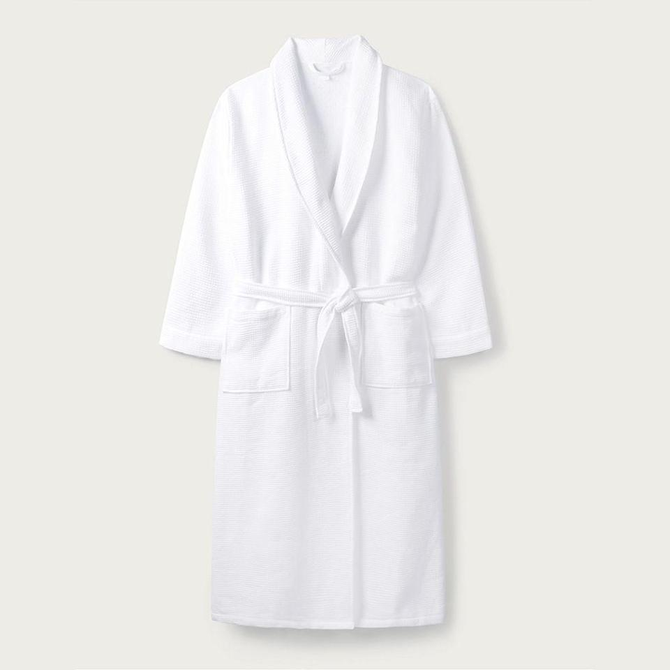 "<p><strong>The White Company</strong></p><p>thewhitecompany.com</p><p><strong>$85.00</strong></p><p><a href=""https://go.redirectingat.com?id=74968X1596630&url=https%3A%2F%2Fwww.thewhitecompany.com%2Fus%2FUnisex-Waffle-Terry-Robe%2Fp%2FWDCNR&sref=https%3A%2F%2Fwww.bestproducts.com%2Flifestyle%2Fg3180%2Fterry-cloth-robes-for-men-women%2F"" rel=""nofollow noopener"" target=""_blank"" data-ylk=""slk:Shop Now"" class=""link rapid-noclick-resp"">Shop Now</a></p><p>While a tight waffle weave is <a href=""https://www.bestproducts.com/beauty/g1831/at-home-spa-treatment/"" rel=""nofollow noopener"" target=""_blank"" data-ylk=""slk:super spa-like,"" class=""link rapid-noclick-resp"">super spa-like,</a> it isn't a common texture for terry cloth robes. This option is made of textured cotton waffle on the outside, and soft cotton towelling on the inside, so it looks less bulky than a traditional terry robe.</p>"