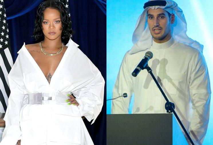 Rihanna and Hassan Jameel photographed kissing.