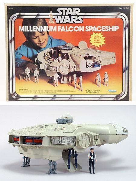 Though more finely sculpted, Kenner's final toy version of the <i>Falcon</i> hewed closely to the mock-up. (Credit: Hasbro)