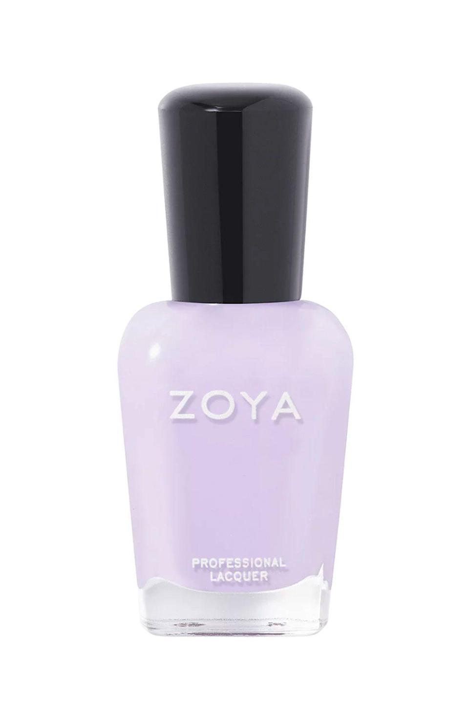 """<p><strong>Zoya</strong></p><p>ulta.com</p><p><strong>$9.00</strong></p><p><a href=""""https://go.redirectingat.com?id=74968X1596630&url=https%3A%2F%2Fwww.ulta.com%2Fnail-lacquer%3FproductId%3DxlsImpprod13741055&sref=https%3A%2F%2Fwww.seventeen.com%2Fbeauty%2Fnails%2Fg2741%2Fbest-spring-nail-colors%2F"""" rel=""""nofollow noopener"""" target=""""_blank"""" data-ylk=""""slk:SHOP NOW"""" class=""""link rapid-noclick-resp"""">SHOP NOW</a></p><p>There's a reason light purple colors are so popular for springtime, no matter what year it is. </p>"""