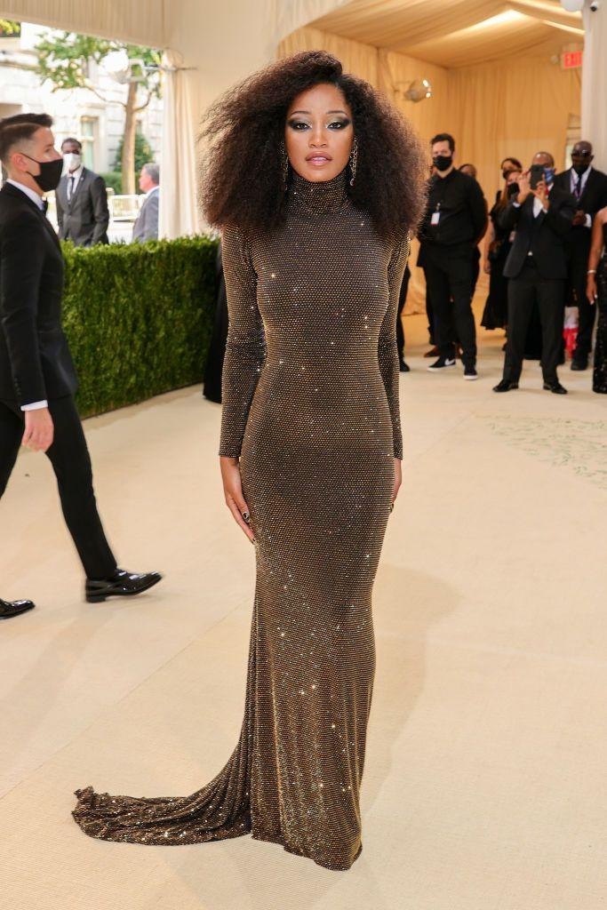 <p>The Hustlers star wore a sequinned Sergio Hudson to the fashionable event. </p>