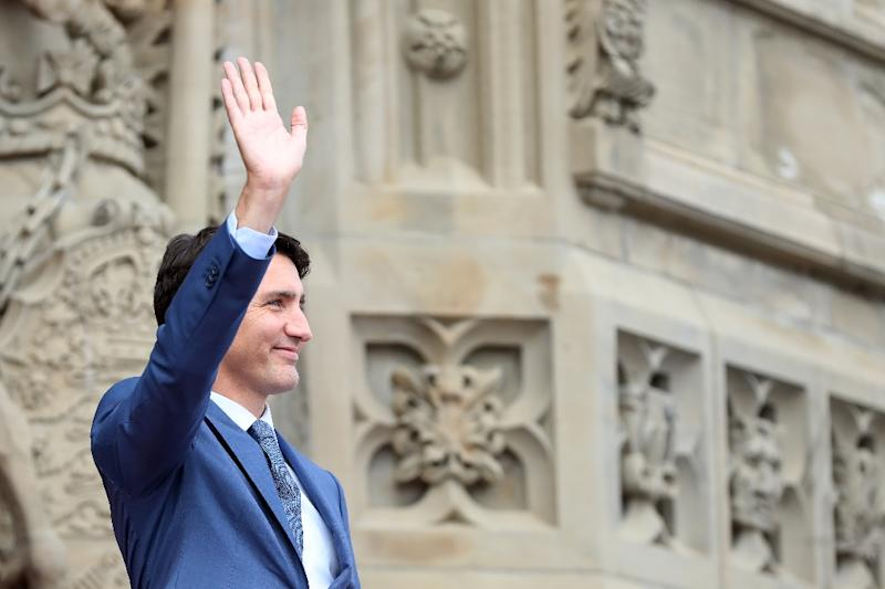Canadian Prime Minister Justin Trudeau, who will host climate talks in Montreal starting Saturday, has set himself apart from US President Donald Trump, who rejected the Paris climate accord (AFP Photo/Lars Hagberg)