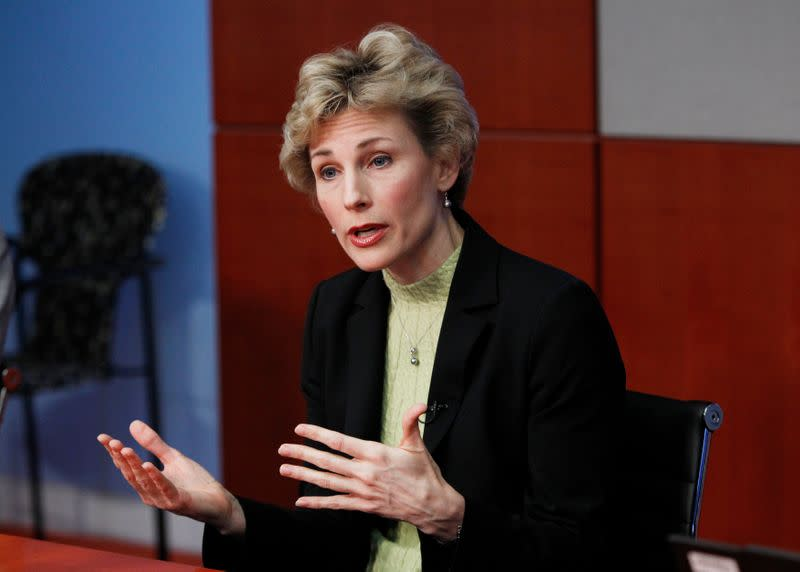 FILE PHOTO: Mikells speaks during the 2010 Reuters Travel and Leisure Summit in New York