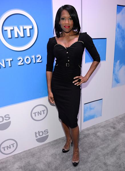 "Regina King (""Southland"") attends the TNT/TBS 2012 Upfront Presentation at Hammerstein Ballroom on May 16, 2012 in New York City."