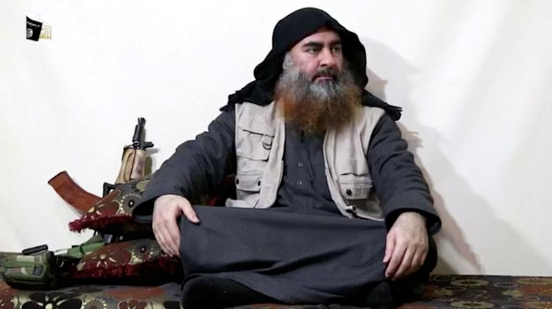A bearded man believed to be Islamic State group leader Abu Bakr al-Baghdadi speaks in this screengrab taken from video released on April 29, 2019. (Photo: Islamic State Group/Al Furqan Media Network/Reuters TV via Reuters)