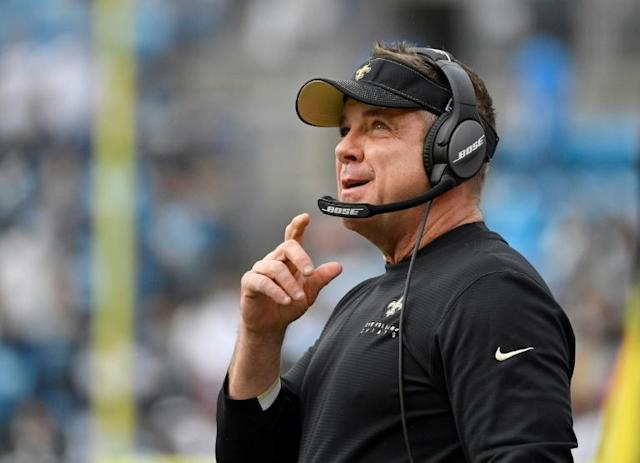 Among those who have contracted coronavirus in Louisiana is Sean Payton, coach of the 2010 Super Bowl champion New Orleans Saints (AFP Photo/GRANT HALVERSON)