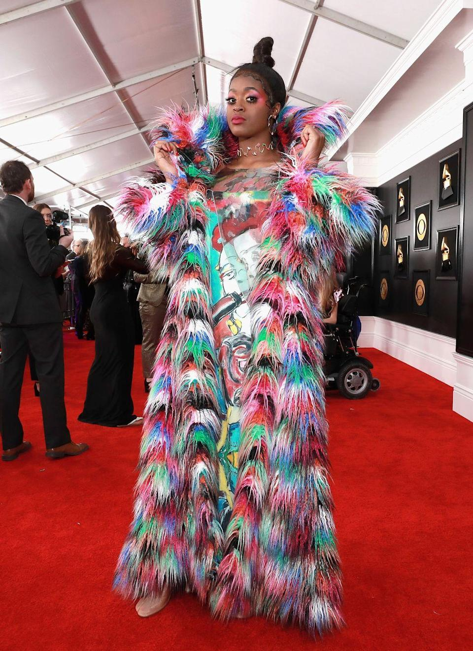 <p>Rainbow fur moments don't happen every red carpet. But when they do happen, every other look just seems understated. </p>