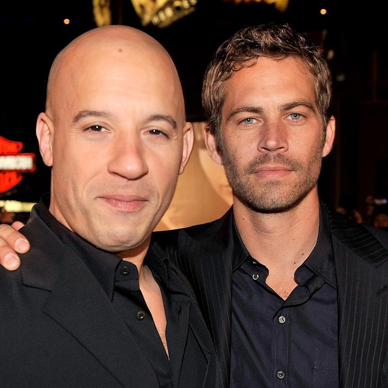 Vin Diesel, left, and Paul Walker co-starred together in five of the