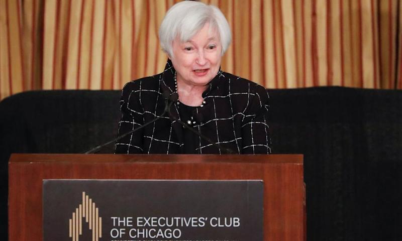 Federal Reserve chair Janet Yellen addresses the Executives' Club of Chicago on 3 March
