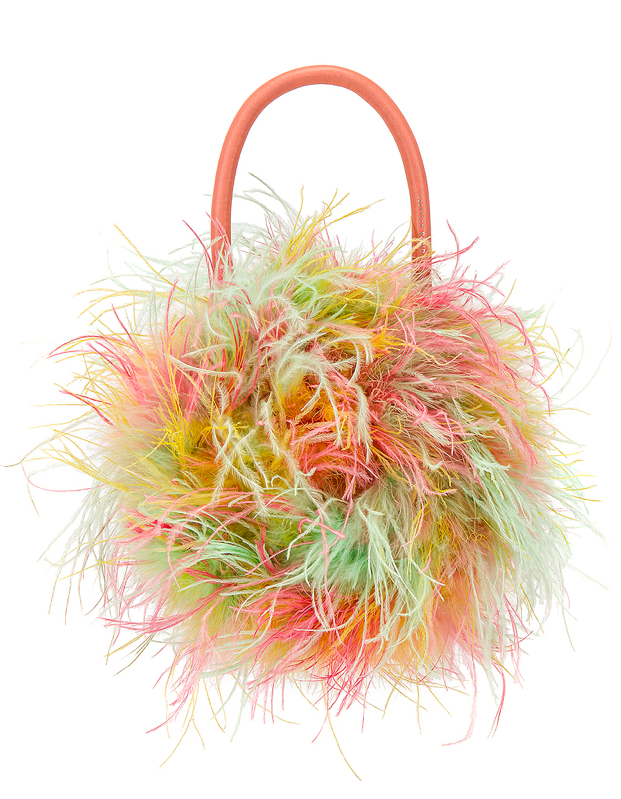 """Feathers are very much still happening on the style front, and this fluffy bag is just the right amount of extra. $350, Revolve. <a href=""""https://www.revolve.com/loeffler-randall-zadie-feather-circle-tote/dp/LOEF-WY124/"""">Get it now!</a>"""