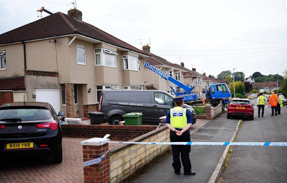 Police were called to the Mangotsfield area of Bristol on Monday (Ben Birchall/PA) (PA Wire)
