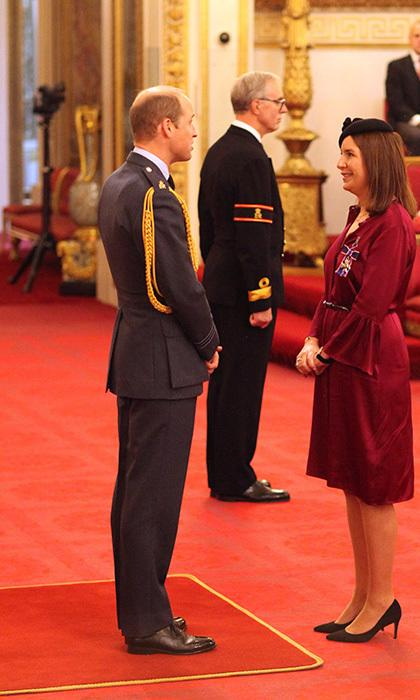 Rebecca Deacon with Prince William