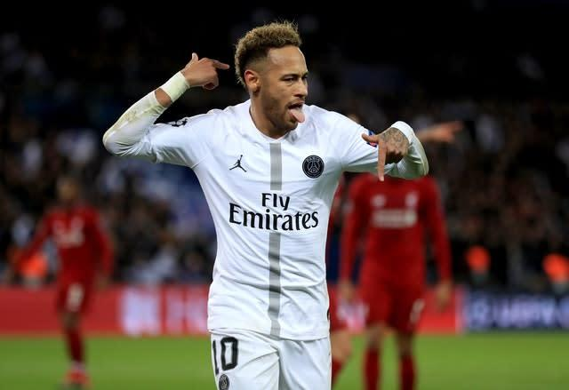 Neymar has been linked with a summer move to Real Madrid (Mike Egerton/PA)