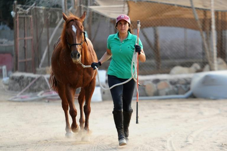 Dana al-Gosaibi's passion for training horses is hard to pursue in a conservative country