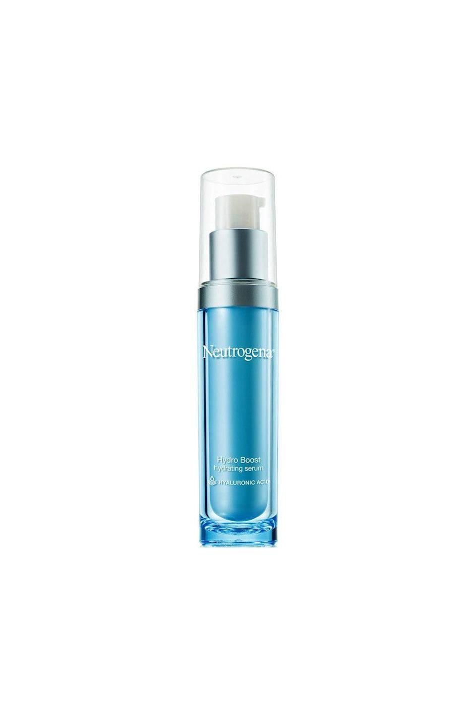"""<p><strong>Neutrogena</strong></p><p>ulta.com</p><p><strong>$24.99</strong></p><p><a href=""""https://go.redirectingat.com?id=74968X1596630&url=https%3A%2F%2Fwww.ulta.com%2Fhydroboost-hydrating-serum%3FproductId%3DxlsImpprod15321219&sref=https%3A%2F%2Fwww.oprahdaily.com%2Fbeauty%2Fskin-makeup%2Fg27529759%2Fbest-hyaluronic-acid-serum%2F"""" rel=""""nofollow noopener"""" target=""""_blank"""" data-ylk=""""slk:SHOP NOW"""" class=""""link rapid-noclick-resp"""">SHOP NOW</a></p><p>Batra loves this serum because it's """"non-comedogenic, meaning it will not clog pores, and it's lightweight while still hydrating."""" Plus, it's pricetag is more affordable than most hyaluronic acid serums on the market. </p>"""