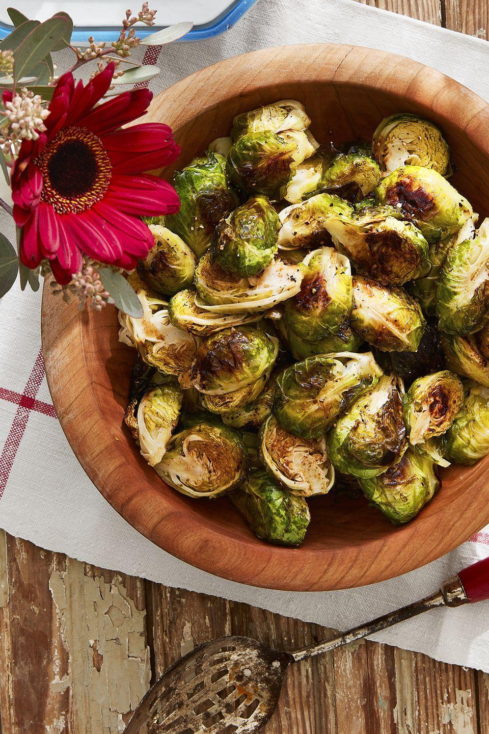 "<p>These Brussels are so good even the kids will want to eat them—yes, you heard that right. </p><p><strong><a href=""https://www.countryliving.com/food-drinks/recipes/a45288/roasted-brussels-sprouts-recipe/"" rel=""nofollow noopener"" target=""_blank"" data-ylk=""slk:Get the recipe"" class=""link rapid-noclick-resp"">Get the recipe</a>.</strong></p>"