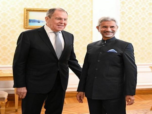Russian Foreign Minister Sergey V Lavrov and External Affairs Minister S Jaishankar