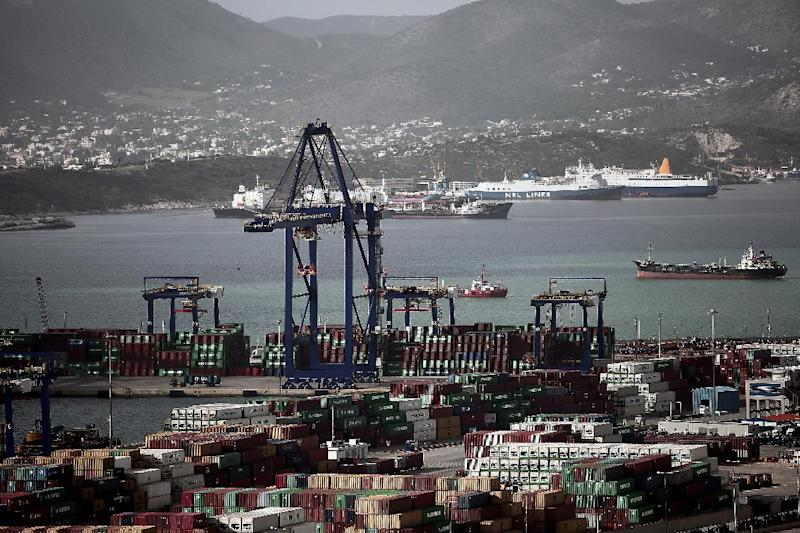 Greece's largest port in Piraeus, near Athens, on January 31, 2015 (AFP Photo/Angelos Tzortzinis)