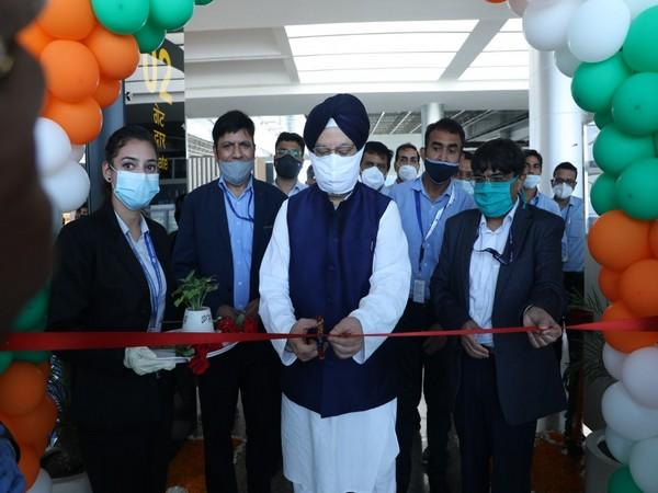 Hardeep Singh Puri inaugurates passenger boarding bridges at Chandigarh airport (Photo/ANI)