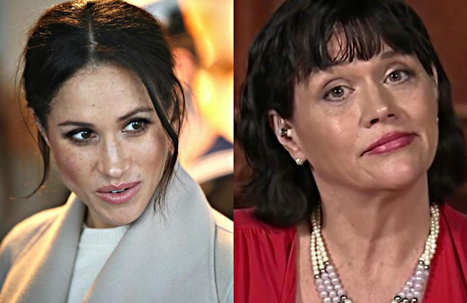Meghan Markle's estranged half-sister took responsibility for the staged paparazzi photos of their father, but who exactly is Samantha Markle? <em>(Photo: Getty/ITV (hosted)</em>