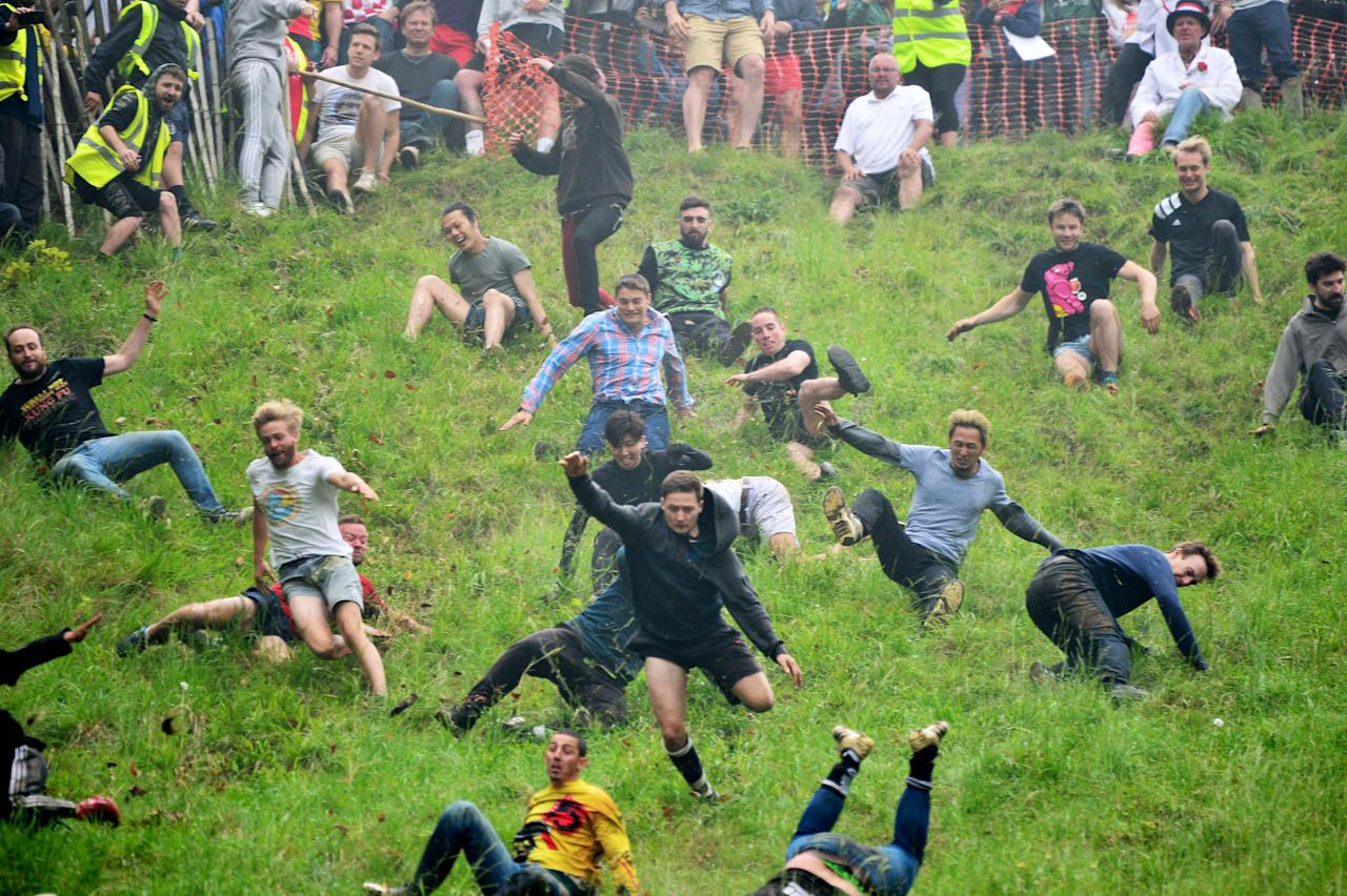 <p>Injuries are common, but because the hill was so muddy this year, the ground is softer and there are likely to be fewer breaks than during previous competitions. (SWNS) </p>