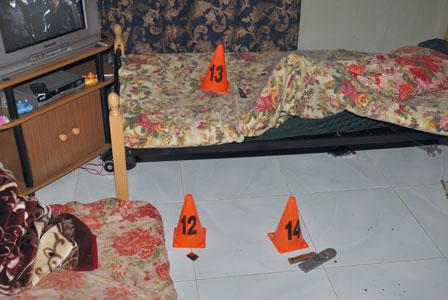 The crime scene of the alleged murder of a woman in Ras Al Khaimah