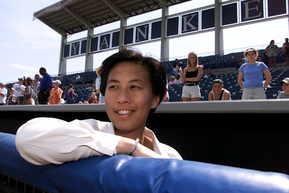 UNITED STATES - CIRCA 2000:  Kim Ng, New York Yankees' vice president and assistant general manager at spring training camp.  (Photo by Linda Cataffo/NY Daily News Archive via Getty Images)