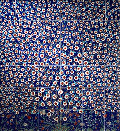 """The Turkish <a href=""""http://bit.ly/UxKFkf"""" rel=""""nofollow noopener"""" target=""""_blank"""" data-ylk=""""slk:Iznik tiles sold by Ann Sacks"""" class=""""link rapid-noclick-resp"""">Iznik tiles sold by Ann Sacks</a> are made with the """"same painstaking handcrafted techniques"""" that have been used for hundreds of years. The price reflects that: Decorative tiles start at about $283 each."""