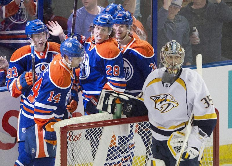 Eberle leads Oilers past Predators 5-1