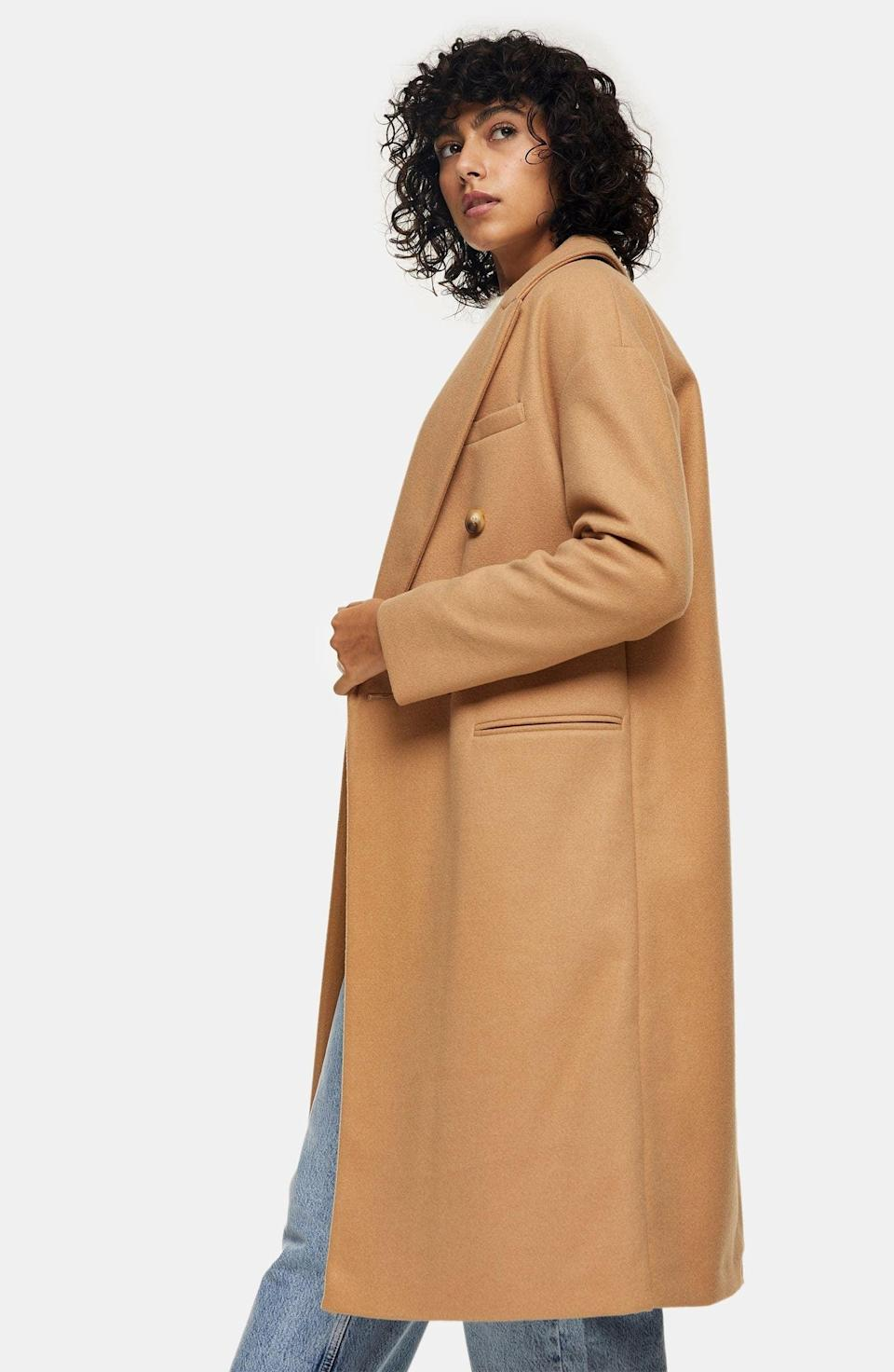 <p><span>Topshop Brooke Double Breasted Long Coat</span> ($57, originally $135)</p>